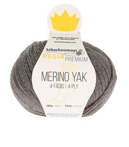 REGIA Premium 4-Fädig Merino Yak Kiesel meliert 07511