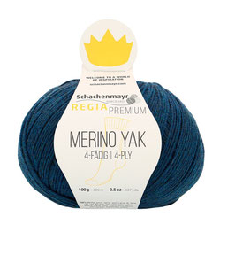 REGIA Premium 4-Fädig Merino Yak Mitternachtblau meliert 07515