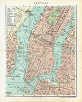 Map of Manhattan, ca. 1900-1910