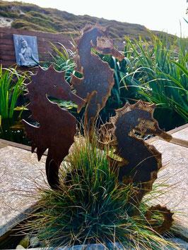 Seepferdchen als Gartenstecker