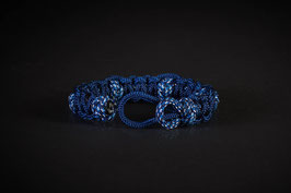 "Armband ""Cobra mit Diamantknoten"" im Umfang regulierbar"