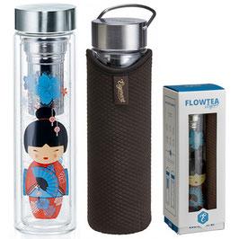 Botella Termo de vidrio con Filtro LITTLE GEISHA