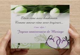 Carte 10 ans de mariage