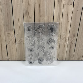 Clear Stamps | Herz Paisley