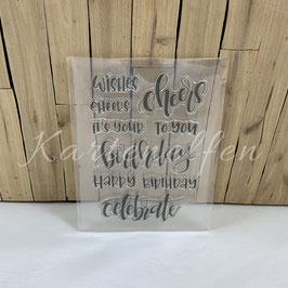 Clear Stamps | Happy Birthday Cheers