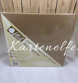 Papier uni | Kraft dick - 25 Stück