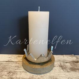 Kerzenhalter Krone mit Kerze