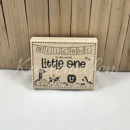 Holzstempel Big | Welcome little one