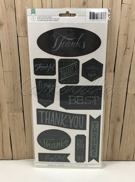 Stickers | Thank you Chalkboard