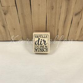 Holzstempel | Erfülle dir deinen Wunsch