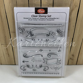 Clear Stamps | Lettering Elemente / Banner