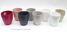 Übertöpfe verschiedenen Farben Durchmesser ca. 13cm H. ca. 15cm