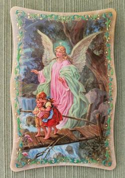 Cadre Ange gardien qui protège les enfants