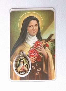 Belle carte prière Sainte Thérèse