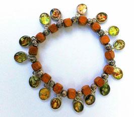 Bracelet des Saints, perles en bois