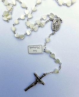 Chapelet, cœurs de nacre et en cadeau un livret Avec Marie