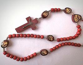 Chapelet Sainte Thérèse, bois sur corde