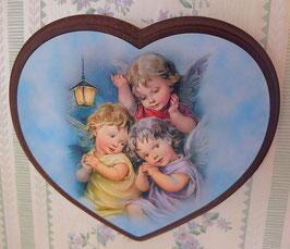 Applique coeur, trois anges