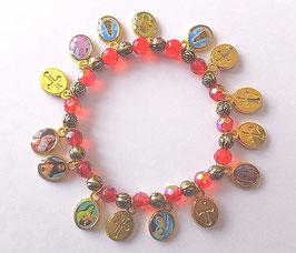 Bracelet des Saints protecteurs, rouge