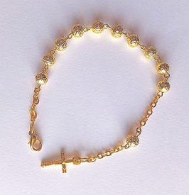 Bracelet dizainier petites roses de Sainte Thérèse, tout en finesse !