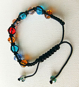 Bracelet, semi cristal multicolore, très belle qualité