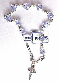 Bracelet religieux raffiné, bleuté tirant sur le violet
