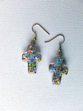 Boucles d'oreilles croix modernes