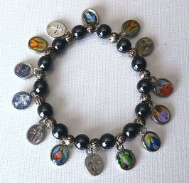 Bracelet  des Saints protecteurs, en hématite