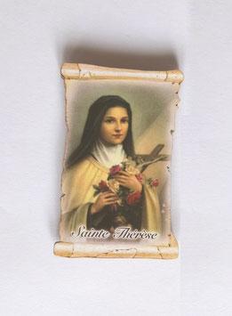 Plaquette pour la voiture Sainte Thérèse