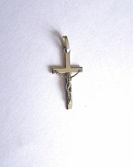 Croix Christ en argent, finition brillante
