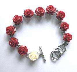 Bracelet roses rouges Sainte Thérèse