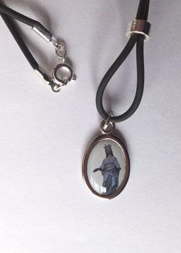 Pendentif Vierge Noire, argenté