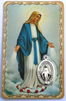 Carte prière Vierge Marie