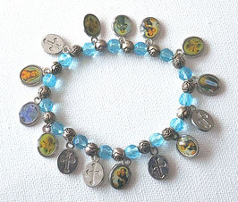 Bracelet des Saints, bleu