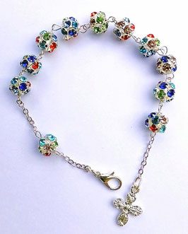 Elégant bracelet dizainier strass cristal étincelant