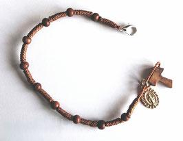 Bracelet dizainier avec croix en Tau