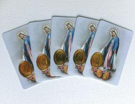 Les 5 cartes Vierge Miraculeuse