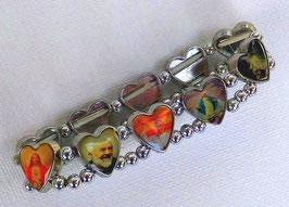 Bracelets des saints cœurs couleur métal