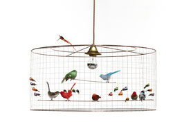 Lámpara pájaros mediana