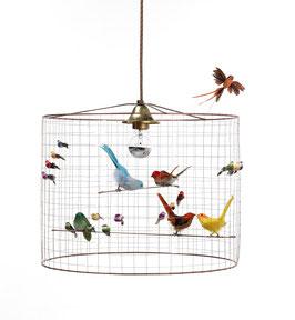 Lámpara pájaros pequeña