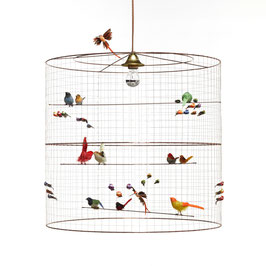 Lámpara pájaros grande