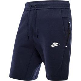 Nike Tech Fleece sportshort - navyblauw -