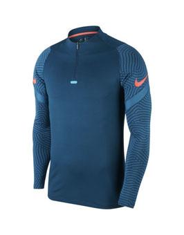 NIKE Dri Fit Drill zip-sweater, blauw