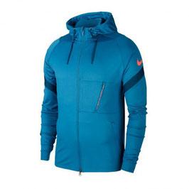 NIKE Dri Fit Drill hooded jack, blauw