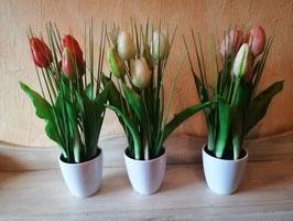künstliche Tulpentöpfchen