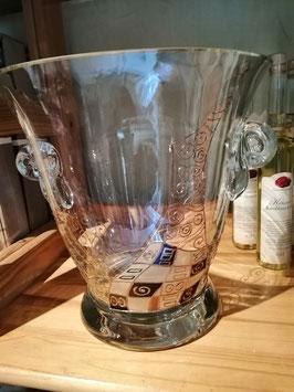 Sektkühler/Weinkühler nach Motiven gearbeitet von Gustav Klimt