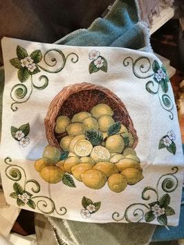Kissenhülle 45 x 45 cm Zitronen