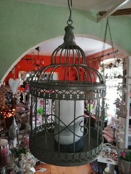 Vogelkäfig zum Hängen als Blumenampel oder Kerzenhalter (kleine Variante)