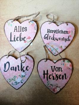 "Spruchherz aus Blech ""Alles Liebe"""