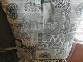 Kissenhülle 50 x 50 grau/weiß